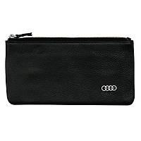 Cумка-клатч кожанная с логотипом Audi (Ауди)