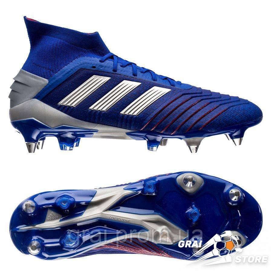 1d124091 Бутсы adidas Predator 19.1 SG Blue/Silver/Red - Интернет магазин Грай в  Киеве