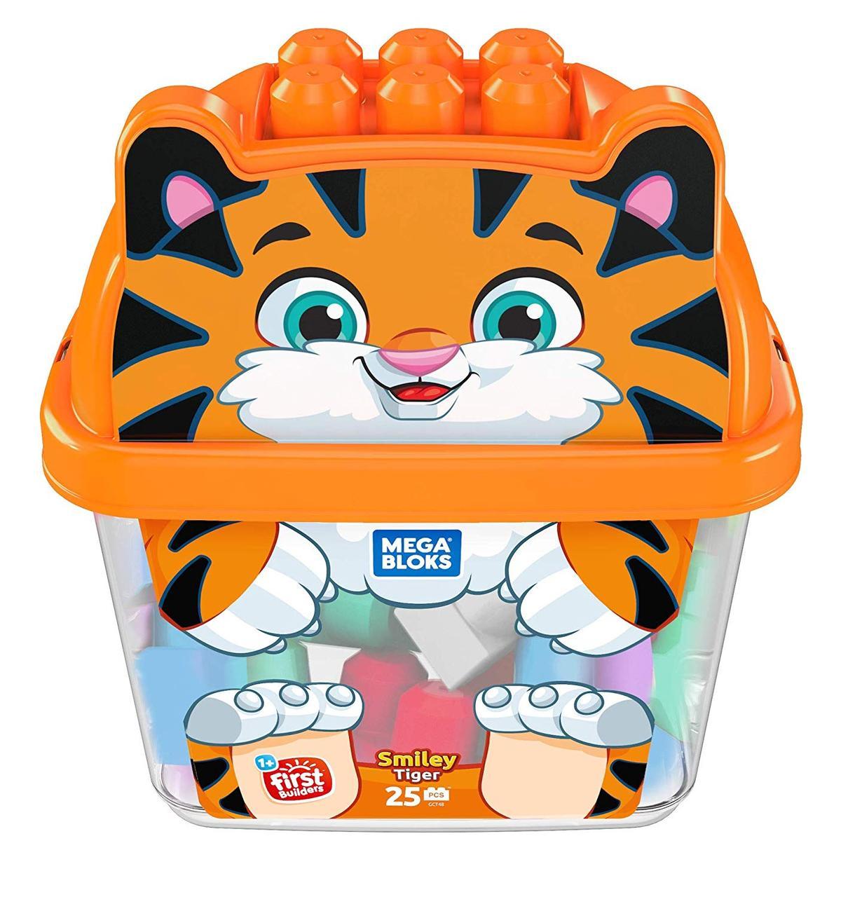 Мега Блокс Конструктор ТигрМногоцветный Mega Bloks Smiley Tiger, Multicolor