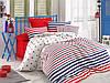 Летнее постельное белье Eponj Home Pike Clup lacivert евро