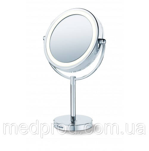 Зеркало настольное 2-х стороннее BS 69 Beurer на ножке с подсветкой c 5-кратным увеличением на подставке