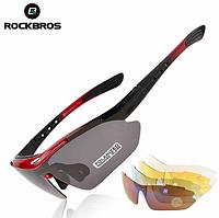 Окуляри для велоспорту Rockbros Polarized 5 змінних лінз, фото 1