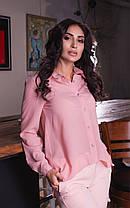 Классическая рубашка однотонной расцветки, фото 2