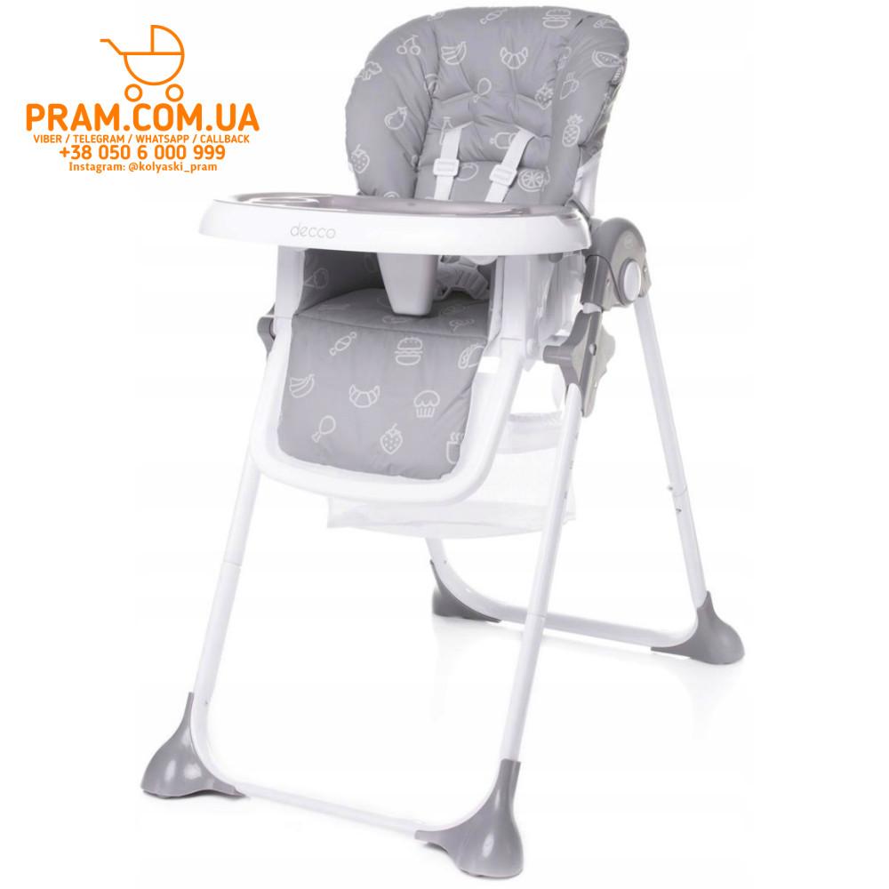 4BABY DECCO стульчик для кормления Grey Серый