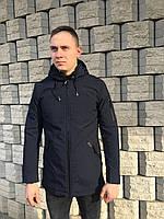 Мужская ветровка куртка удлиненная молодежная