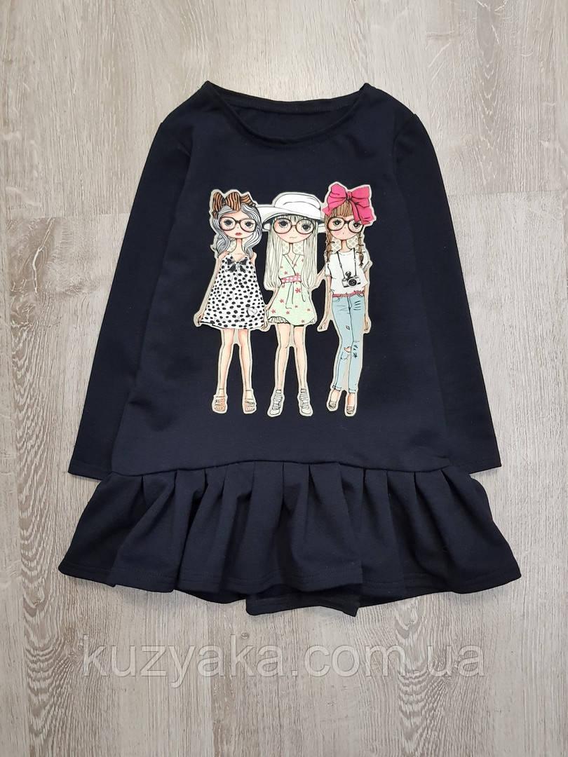 Детское платье-туника на 2-7 лет