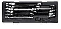Набор ключей комбинированных 14 ед 8-19 мм шарнирных с трещоткой JTC K6142 JTC
