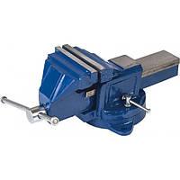 Тиски Miol слеcарные поворотные синие 100 мм Miol 36-200