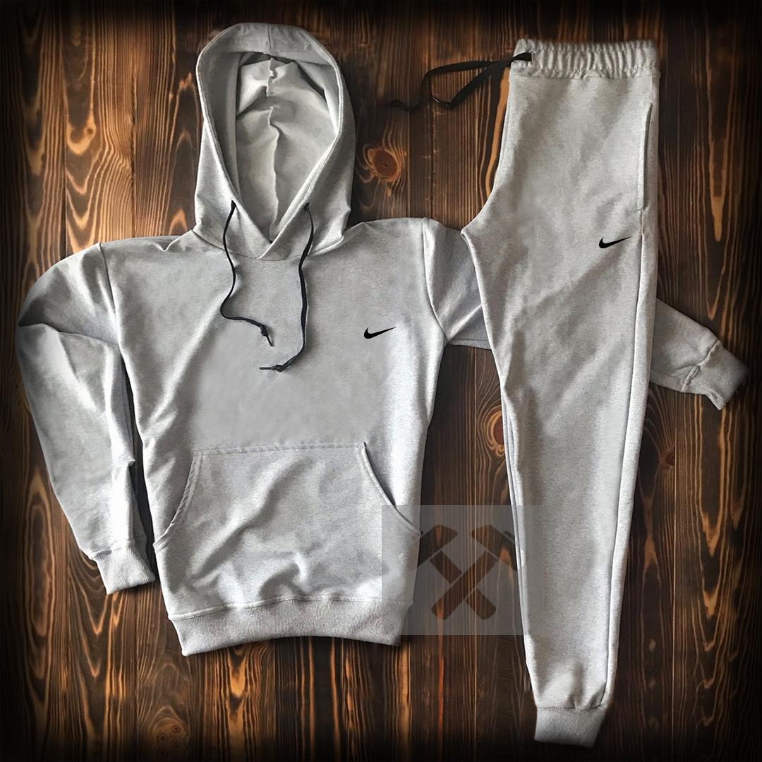183895aa Мужской спортивный костюм Найк с капюшон серого цвета - Интернет магазин  обуви «im-РоLLi