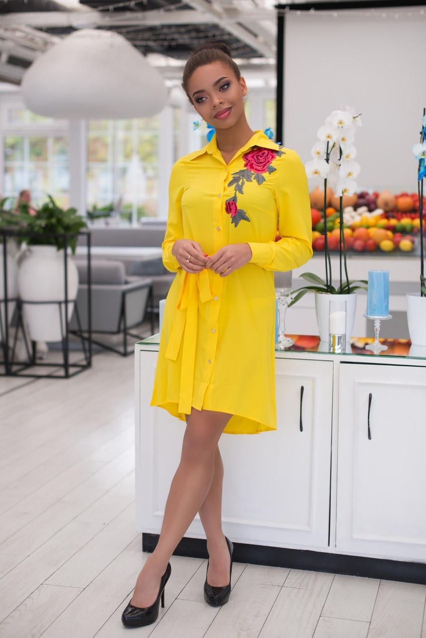 Изумительное яркое платье-рубашка