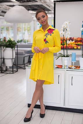 Изумительное яркое платье-рубашка, фото 2