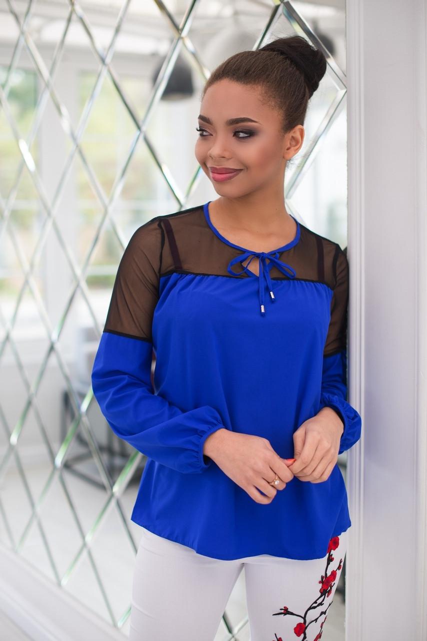 Обворожительная блуза с вставками сетки