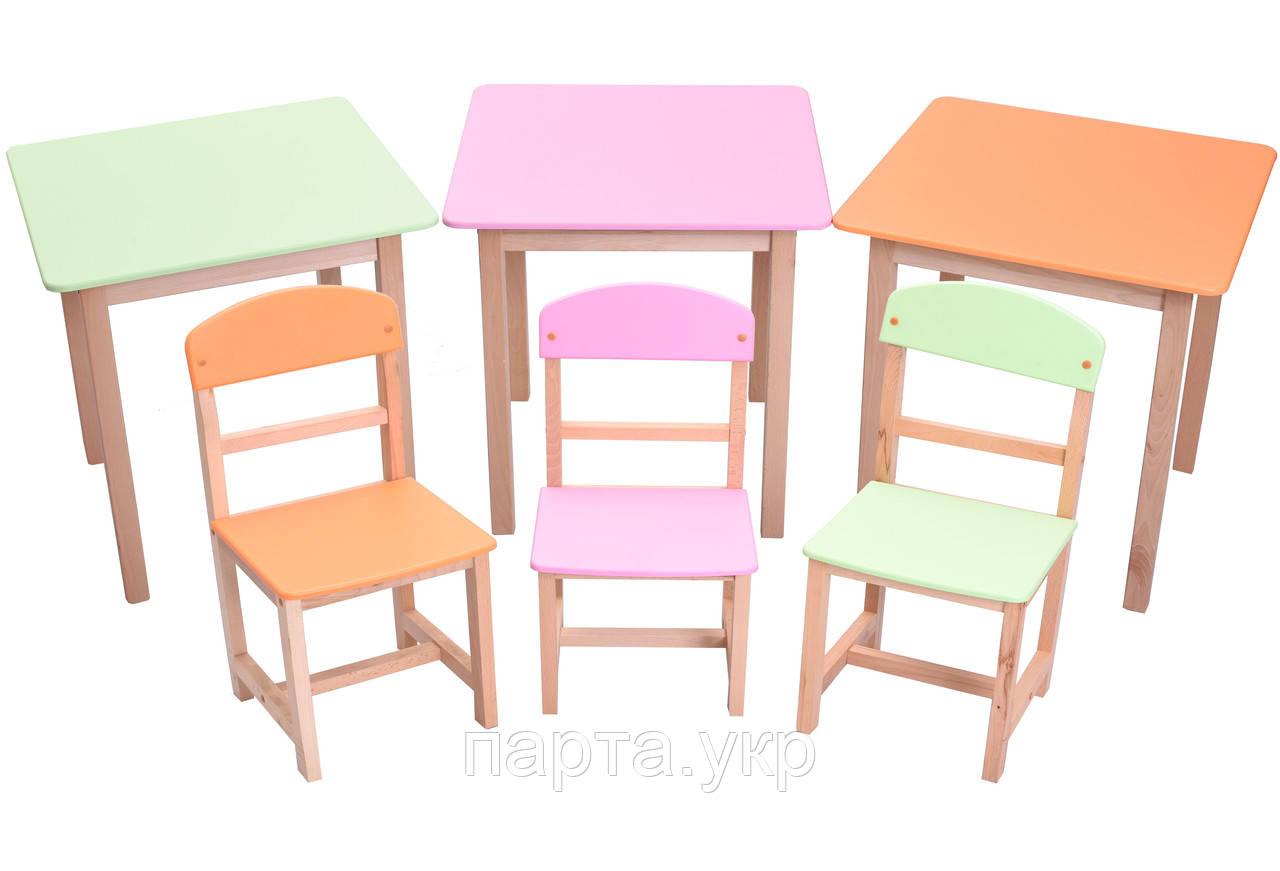 Комплект столик и стульчик Бук, 3 цвета