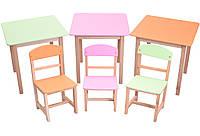 Комплект столик и стульчик Бук, 3 цвета , фото 1