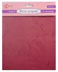 Бумага для декупажа рисовая, коричневая, 50*70см, Santi
