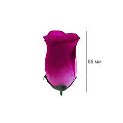 Роза штучна брунька шовк 85 мм кольори мікс