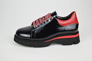 Туфли женские черно-красные Evromoda 3125, фото 2