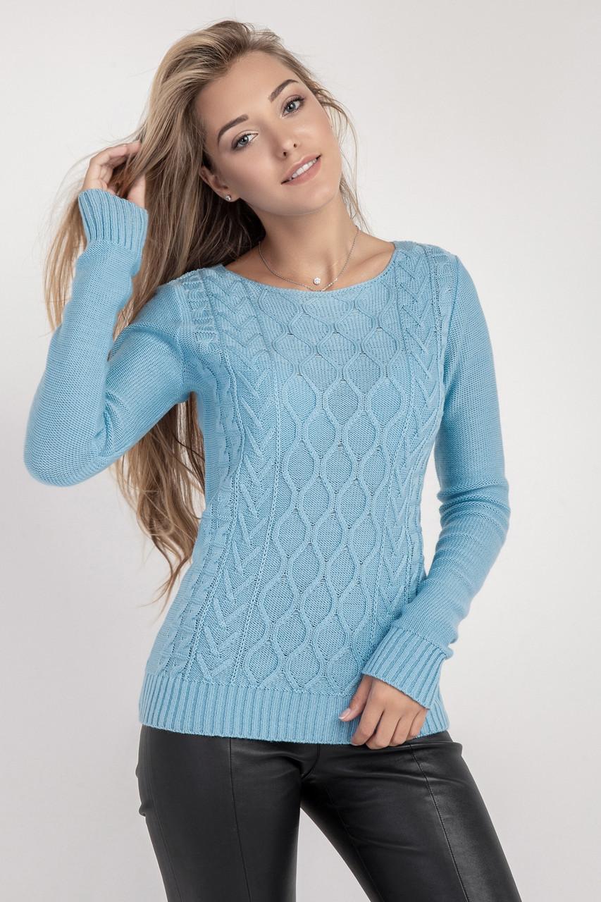 Джемпер свитер женский с красивым узором