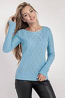 Джемпер свитер женский с красивым узором, фото 1