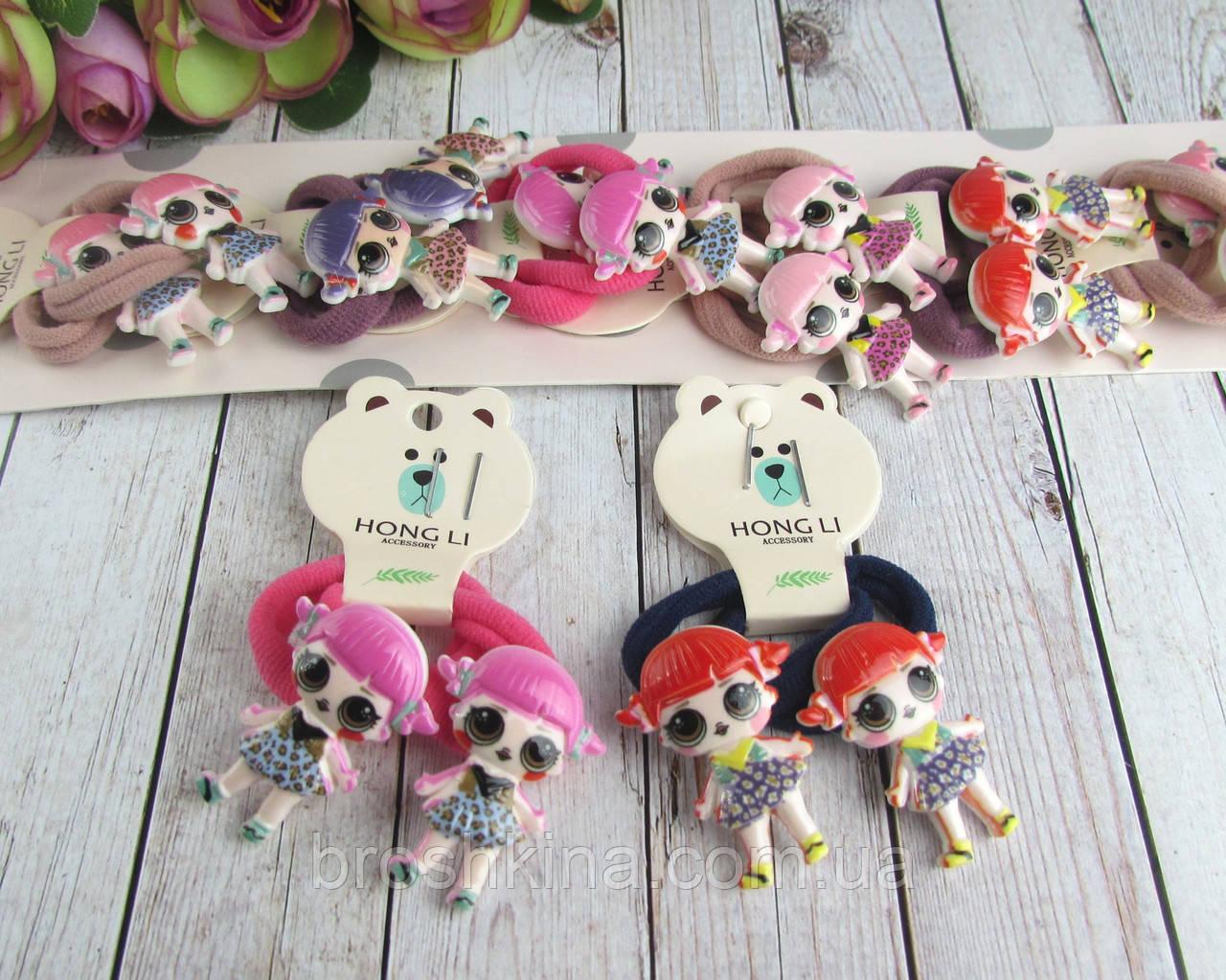 Детские резиночки для волос куколки LOL с хвостиками 10 пар/уп