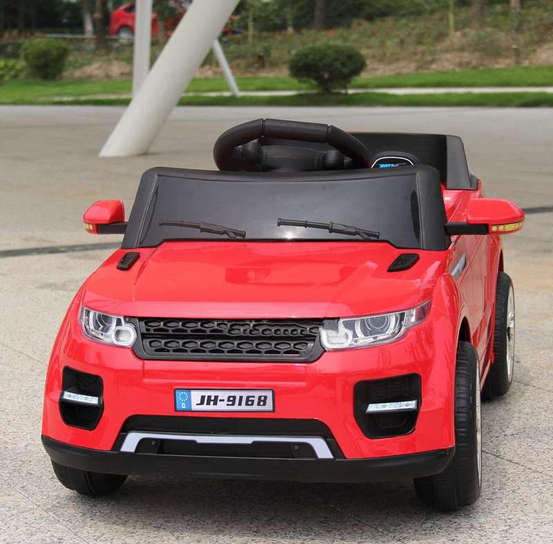 Детский электромобиль с пультом джип Land Rover T-7817 красный