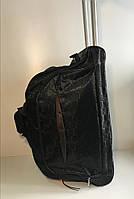 Вместительная сумка на колесах чёрная