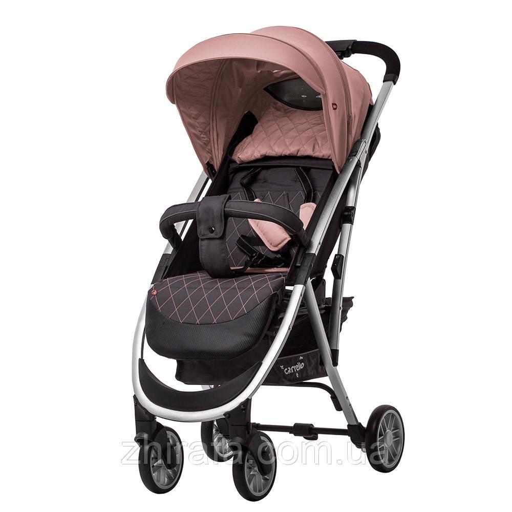 Легкая Прогулочная коляска CARRELLO Gloria +дождевик Coral Pink