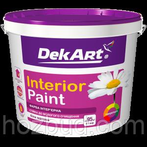 """Матова акрилова фарба """"Interior Paint"""" ТМ """"DekArt"""" для стін і стель, 6,3 кг (біла)"""