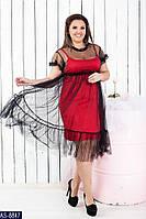 Платье AS-8847 в разных цветах. Размеры 48;50;52;54;56;58, фото 1
