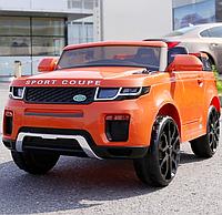 Детский электромобиль с пультом джип Land Rover T-7832 оранжевый