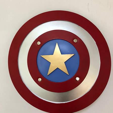 Резиновый щит Captain America 1:1. Мягкий щит Капитана Америки 45 см, фото 2