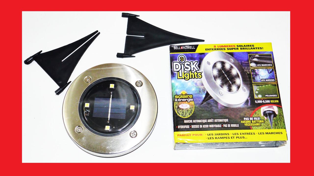 Solar Ligth at garden Вуличний світильник на сонячній батареї 4 5W Led Disk Lights