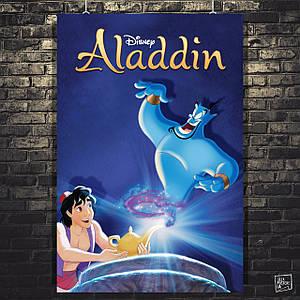 Постер Аладдин с лампой и Джин. Aladdin (1992). Размер 60x40см (A2). Глянцевая бумага