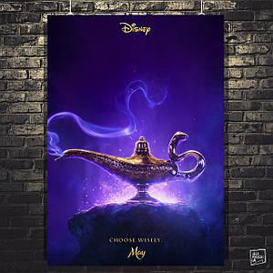 Постер Волшебная лампа Аладдина. Aladdin (2019). Размер 60x43см (A2). Глянцевая бумага