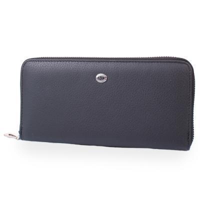 Борсетка-кошелек ST Leather Accessories Кошелек мужской кожаный ST LEATHER ACCESSORIES NST45-black
