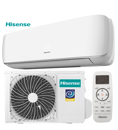 Кондиціонер HISENSE AST-12UW4SVETG10 G/W DC INVERTER APPLE PIE + Wi-Fi (опція), настінна спліт-система