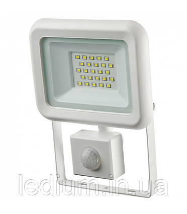 Прожектор светодиодный 20 Ватт с датчиком движения черный