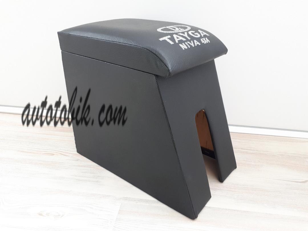 Подлокотник ВАЗ 2121-21213 Нива Тайга черный с вышивкой