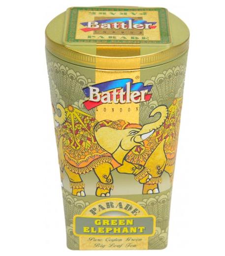 Чай зелёный Green Elephant Battler крупнолистовой 100гр. ж/б