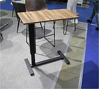 Приставной столик К-10, столешница МДФ орех, регулируемая высота 80х40х(65-90)