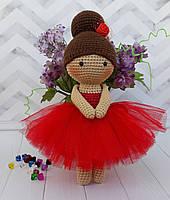 Вязаная куколка балерина