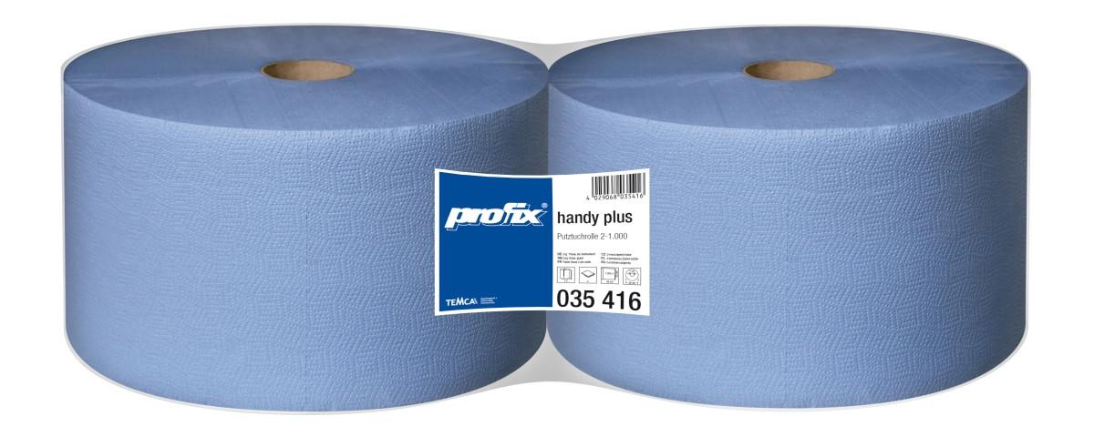 Бумага протирочная TEMCA Profix Handy Plus 2-х слойная, 22х36см, 1000 листов