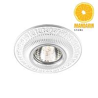 Врезной светильник Feron DL6240 (белый/серебро)
