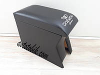 Подлокотник Daewoo Lanos, Sens (Деу Ланос, Сенс) черный с вышивкой, фото 1