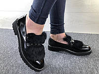 c26c67942 Женские демисезонные туфли черные с мехом . Размеры 36, 37, 38, 40,