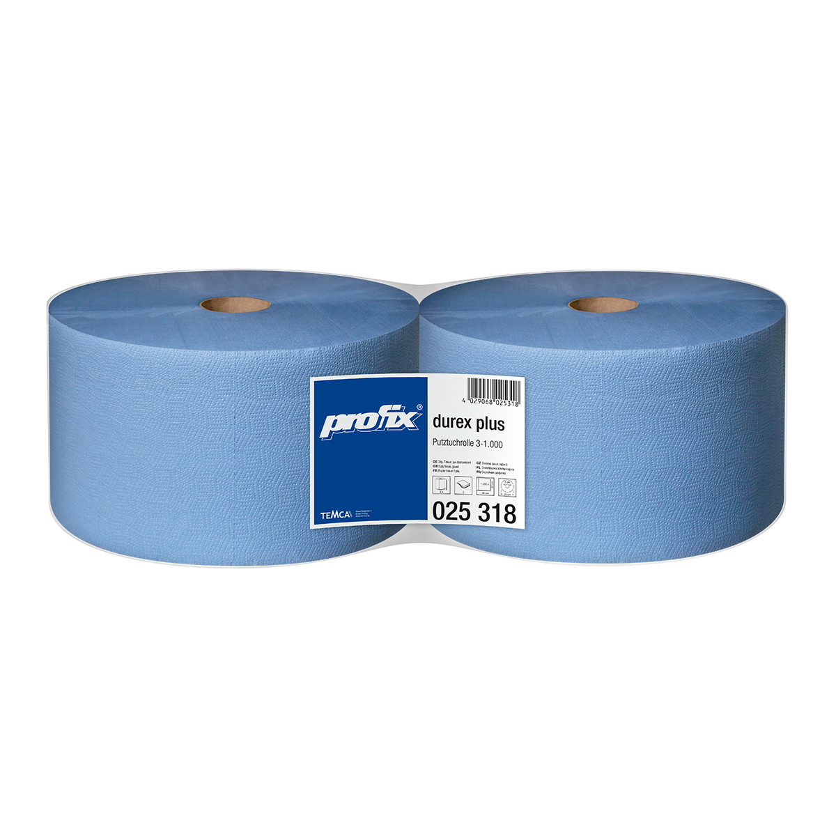 Бумага протирочная TEMCA Profix Durex Plus 3-х слойная, 22х36см, 1000 листов