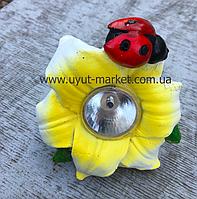Садовый светильник на солнечной батарее цветок, CAB132