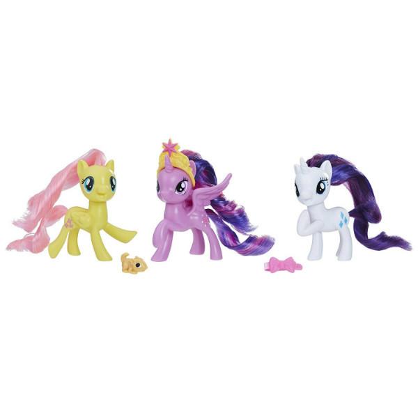 My Little Pony Набор пони Рарити, Твайлайт Спаркл, Флаттершай Twilight Sparkle Rarity Fluttershy 3-Pack Hasbro 09473, фото 1