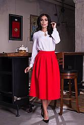 Молодежная юбка миди длины