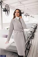 Женское пальто с кашемира на подкладке